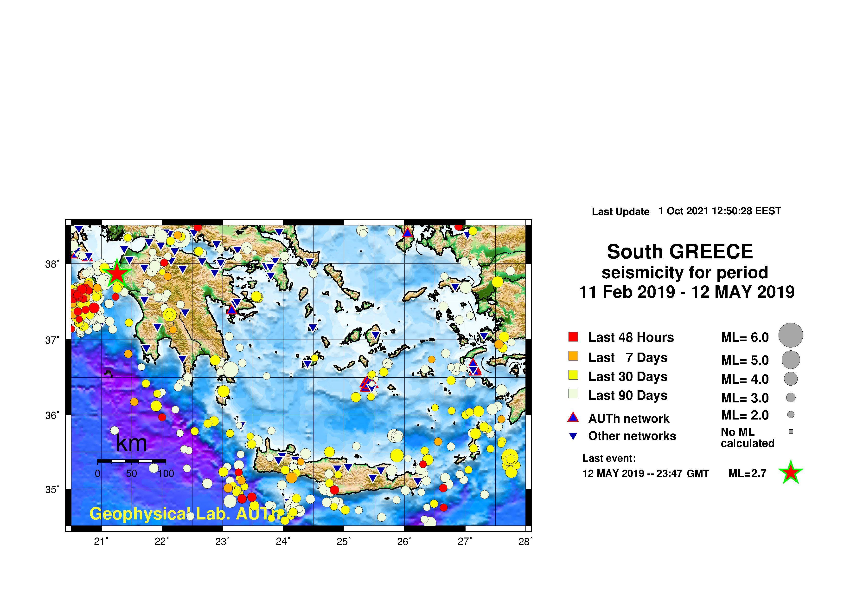 CURRENT SEISMICITY (SOUTHERN GREECE)